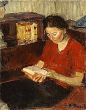 Auguste DUREL - Painting - la liseuse (N°47)