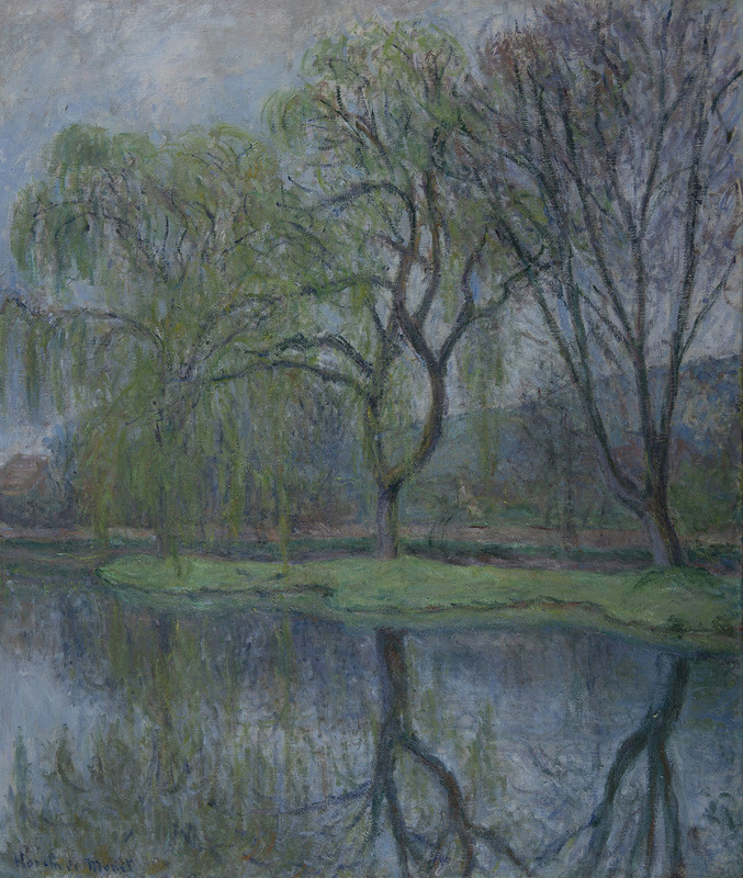 Blanche HOSCHÉDÉ-MONET - Painting - Les grands arbres à l'étang, Giverny