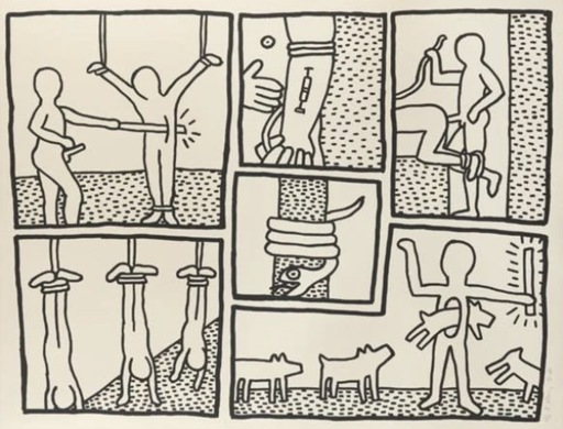 Keith HARING - Estampe-Multiple - Blueprint Drawing #5