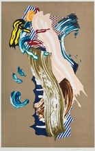 罗伊•利希滕斯坦 - 版画 - Blonde, from the Brushstroke Figures Series