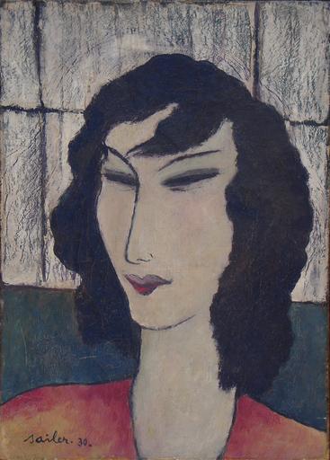 Anton SAILER - Pintura - Femme   - Damenporträt - München