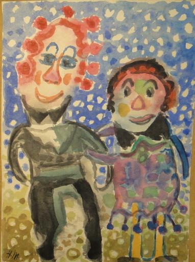 Henry MILLER - Drawing-Watercolor - Märchenzyklus Hänsel und Gretel