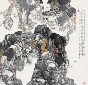 LI Xubai - Drawing-Watercolor - Shang Qingxi in Autumn