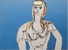 Jean HÉLION - Painting - La fille aux cheveux jaunes