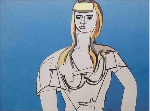 Jean HÉLION - Peinture - La fille aux cheveux jaunes