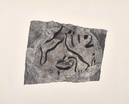 Hans ARP - Dibujo Acuarela - Dessin déchire au lavis