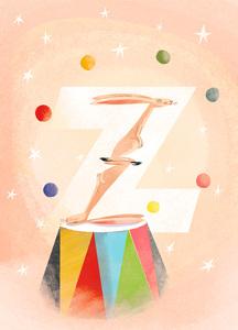 Rocío DEL MORAL - Estampe-Multiple - Animal Alphabet - The letter Z    (Cat N° 6199)