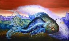 Carlos SABLÓN - Gemälde - Poisson magique