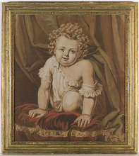 """Karl Josef Aloys AGRICOLA (Attrib.) - Drawing-Watercolor - """"Portrait of a Child"""", early 19th Century"""