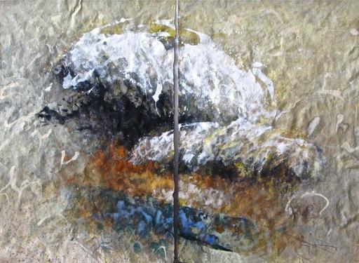 Baruj SALINAS - Dibujo Acuarela - Cloud dyptych