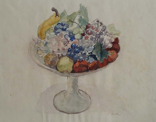 """Silvia KOLLER - Zeichnung Aquarell - """"Still life with Fruits"""", Watercolor"""