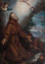 Ludovico CARDI - Painting - Heiliger Franziskus erhält die Stigmata