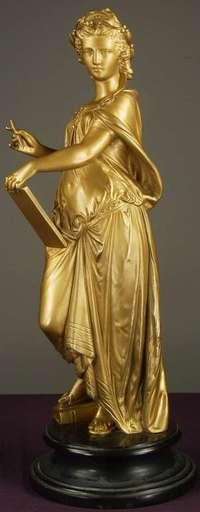 François MAGE - Escultura - Goddess of Literature