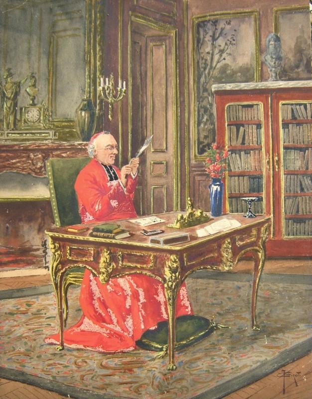 fran ois joseph girot cardinal son bureau oeuvres de la place de march. Black Bedroom Furniture Sets. Home Design Ideas