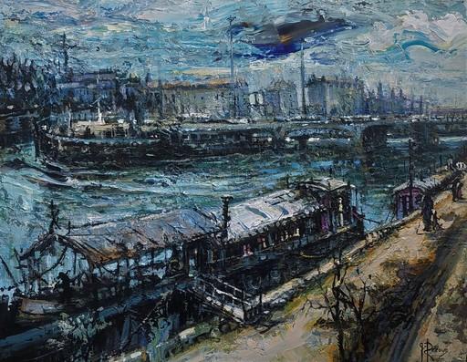 Gilbert PECOUD - Gemälde - Les péniches