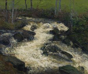 Gustave LOISEAU - Peinture - Le torrent