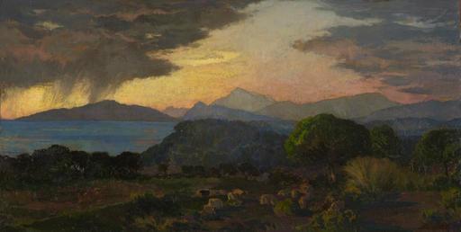 Émile René MENARD - Pintura -  Effet d'orage, côte de Provence