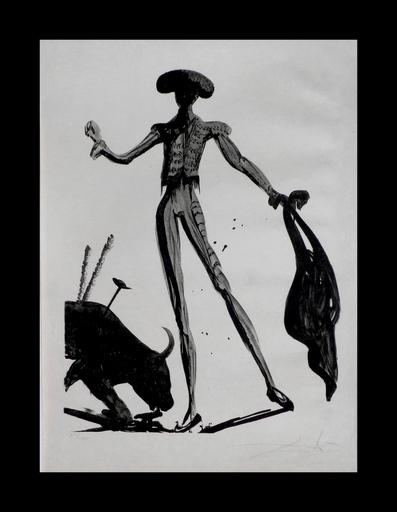 Salvador DALI - Estampe-Multiple - Torero Noir