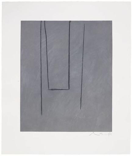 罗伯特•马塞维尔 - 版画 - Slate Gray Pintura