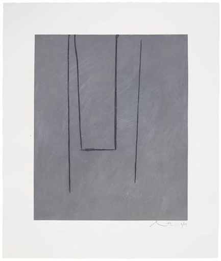 Robert MOTHERWELL - Estampe-Multiple - Slate Gray Pintura