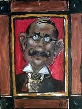 Mstislav Valerianovic DOBUZINSKIJ - Drawing-Watercolor - Theatrical Portrait.