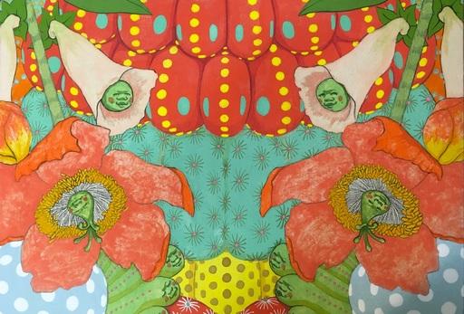 Mari ITO - Painting - Origen del deseo - Ritmo feliz #5