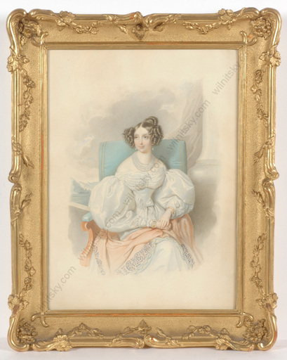 "Johann Nepomuk ENDER - Zeichnung Aquarell - ""Archduchess Sophie of Austria"", outstanding watercolor!"