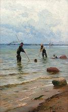Peder Mork MØNSTED - Peinture - Shell Fishermen