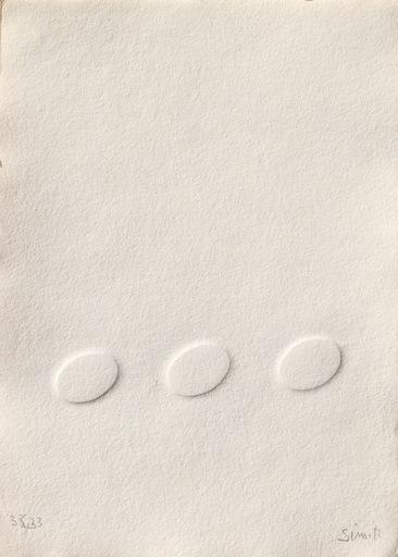 Turi SIMETI - 版画 - 3 ovali bianchi