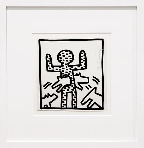 Keith HARING - Estampe-Multiple - Dog Hoop