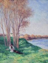 Maximilien LUCE - Pintura - Printemps Saint-Ay de la Loire
