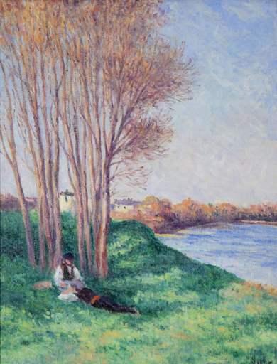 Maximilien LUCE - Peinture - Printemps Saint-Ay de la Loire