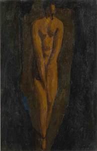 Alfons WALDE - Pittura - Die schüchterne Dame
