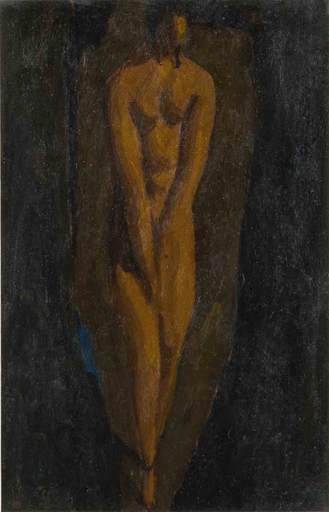 Alfons WALDE - Pintura - Die schüchterne Dame