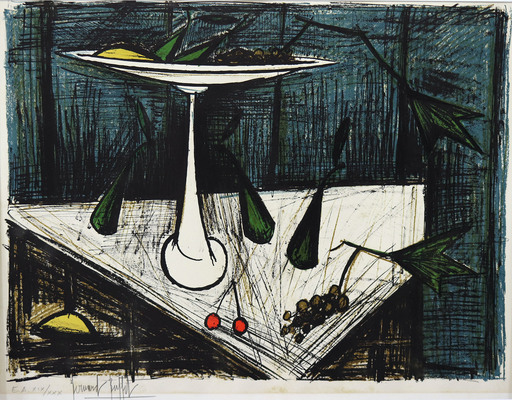 Bernard BUFFET - Estampe-Multiple - Nature morte au compotier