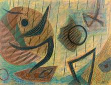 Henri GOETZ - Disegno Acquarello - Composition