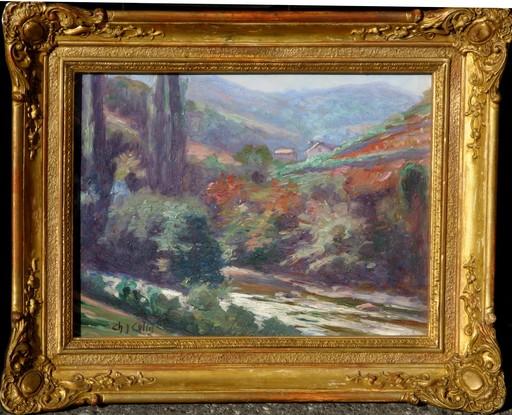 Charles COLIN - Pintura - PAYSAGE BASQUE