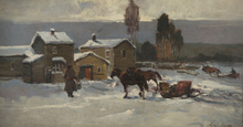Alessio ISSUPOFF (1889-1957) - Russian Village in Winter