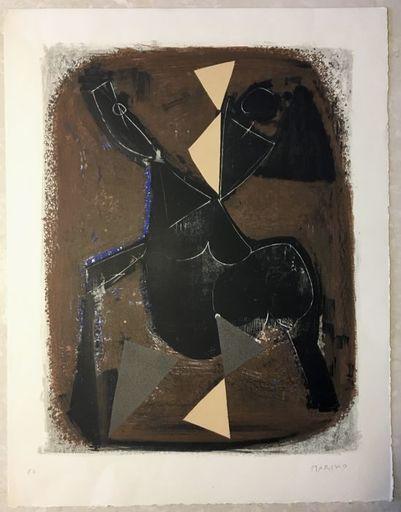Marino MARINI - Grabado - Le Cavallier Noir (L'impazzata)