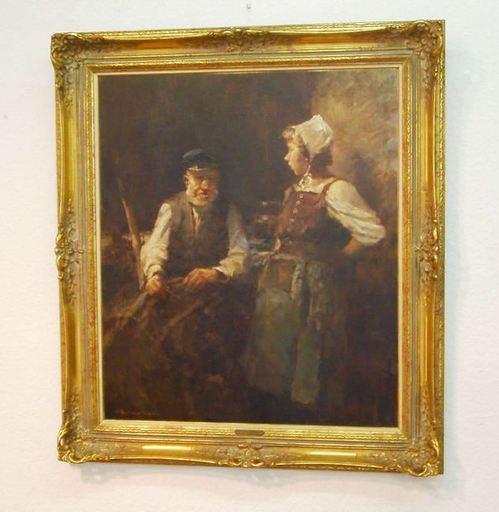Hermann SCHMIDTMANN - Pintura - Großvater erzählt