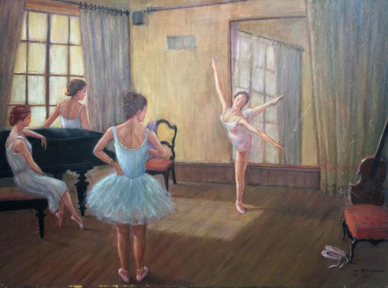 Monique BAUDAUX - Painting - Ballet
