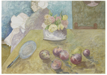 Elie ABRAHAMI - Zeichnung Aquarell - By The Table