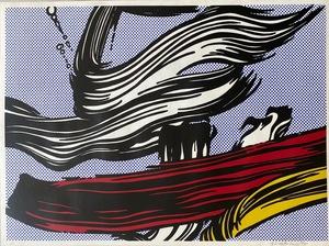 Roy LICHTENSTEIN - Stampa-Multiplo - Brushstrokes