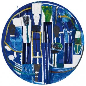 Mimmo PALADINO - Gemälde - Untitled (round)