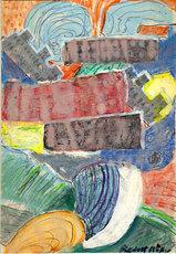 Rudolf MÖLLER - Dibujo Acuarela - o.T.( Abstrakte Komposition )