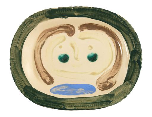 Pablo PICASSO - Ceramiche - Esquisse de visage de femme
