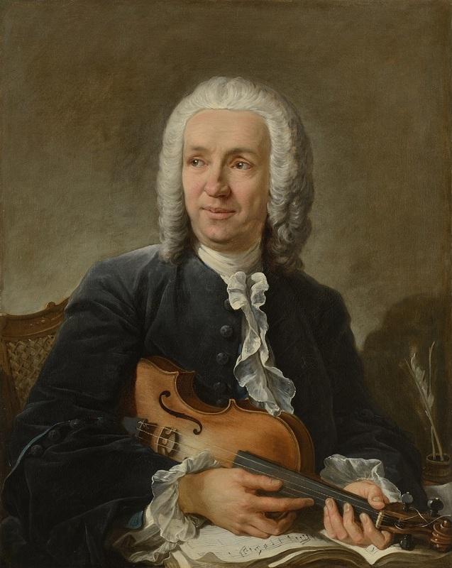François BOUCHER - Painting - Portrait du compositeur Francesco Geminiani (1687 - 1762)