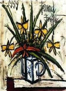 Bernard BUFFET - Peinture - bouquet