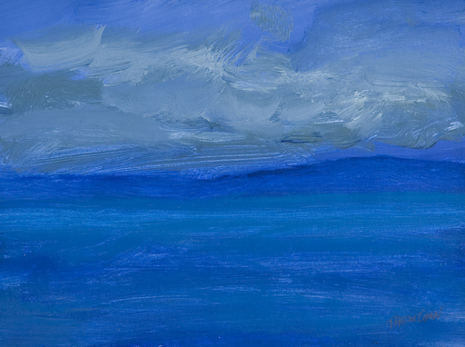 Douglas THOMSON - Painting - Calm Sea