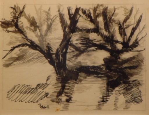 Giacomo BALLA - Drawing-Watercolor - Alberi in movimento